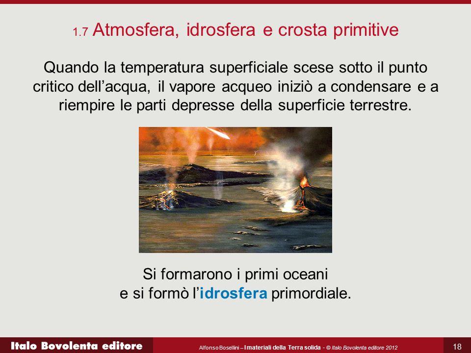 Si formarono i primi oceani e si formò l'idrosfera primordiale.