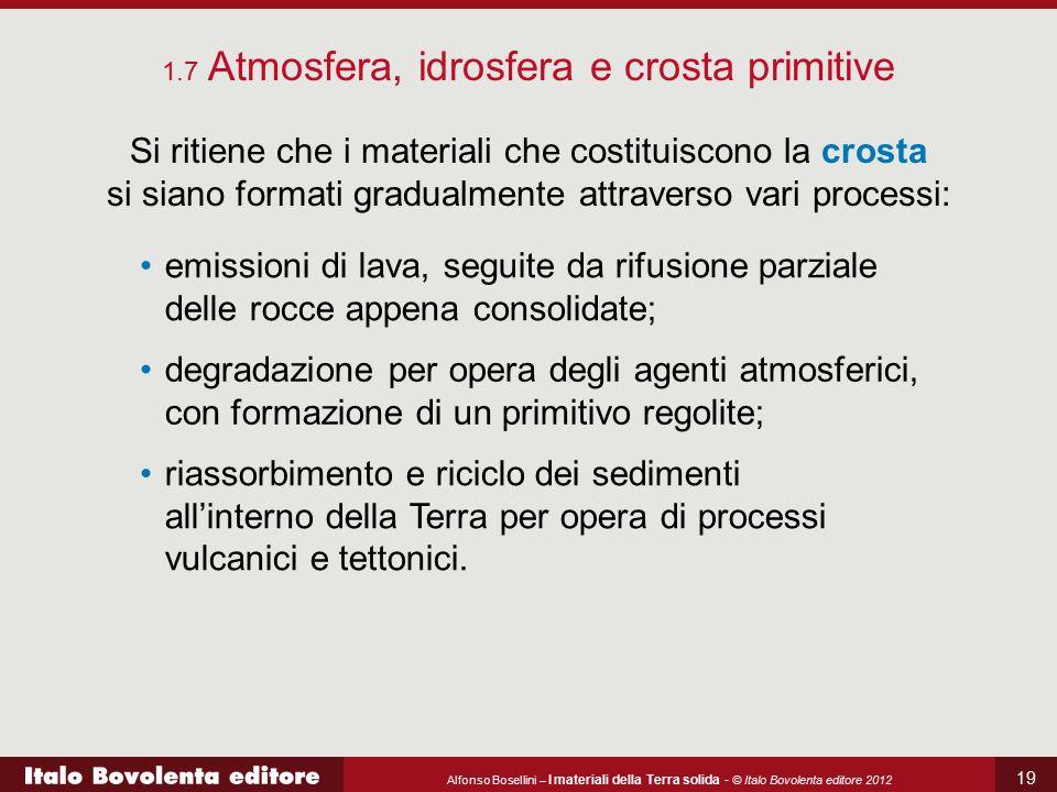 1.7 Atmosfera, idrosfera e crosta primitive