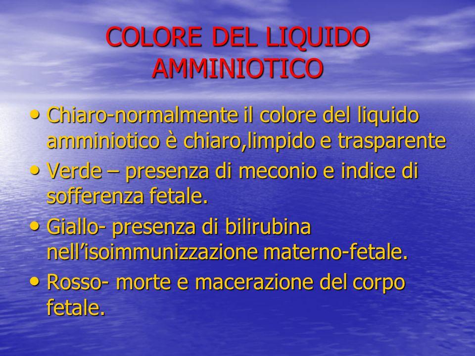 COLORE DEL LIQUIDO AMMINIOTICO