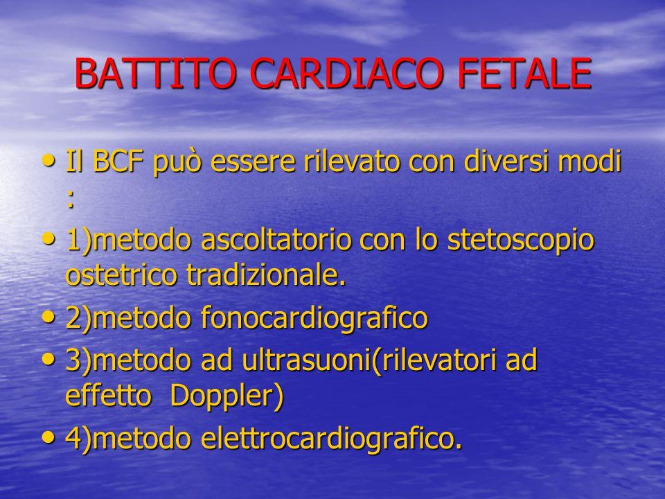 BATTITO CARDIACO FETALE