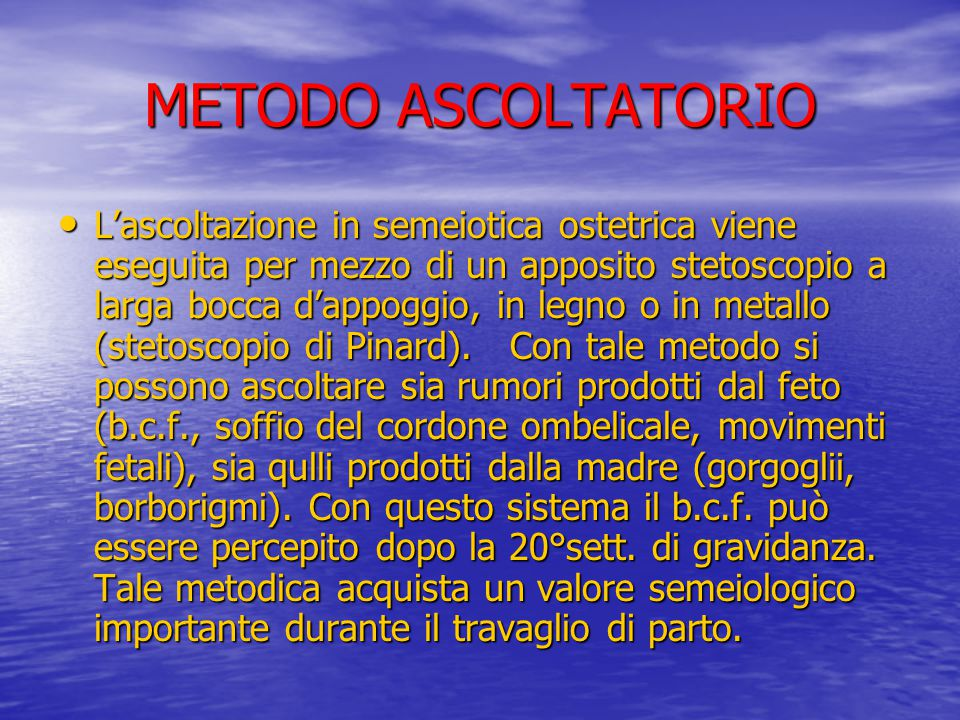 METODO ASCOLTATORIO