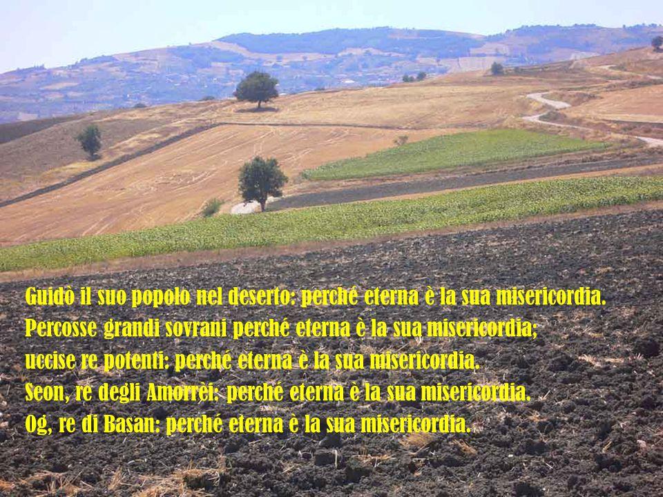 Guidò il suo popolo nel deserto: perché eterna è la sua misericordia