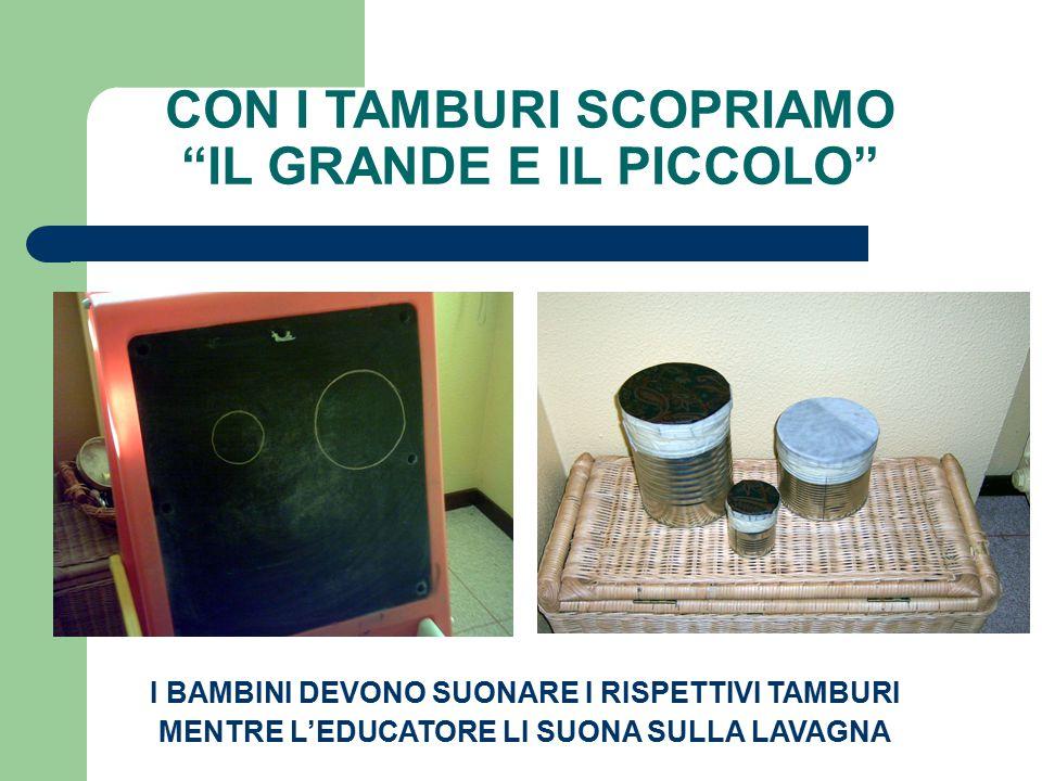 CON I TAMBURI SCOPRIAMO IL GRANDE E IL PICCOLO