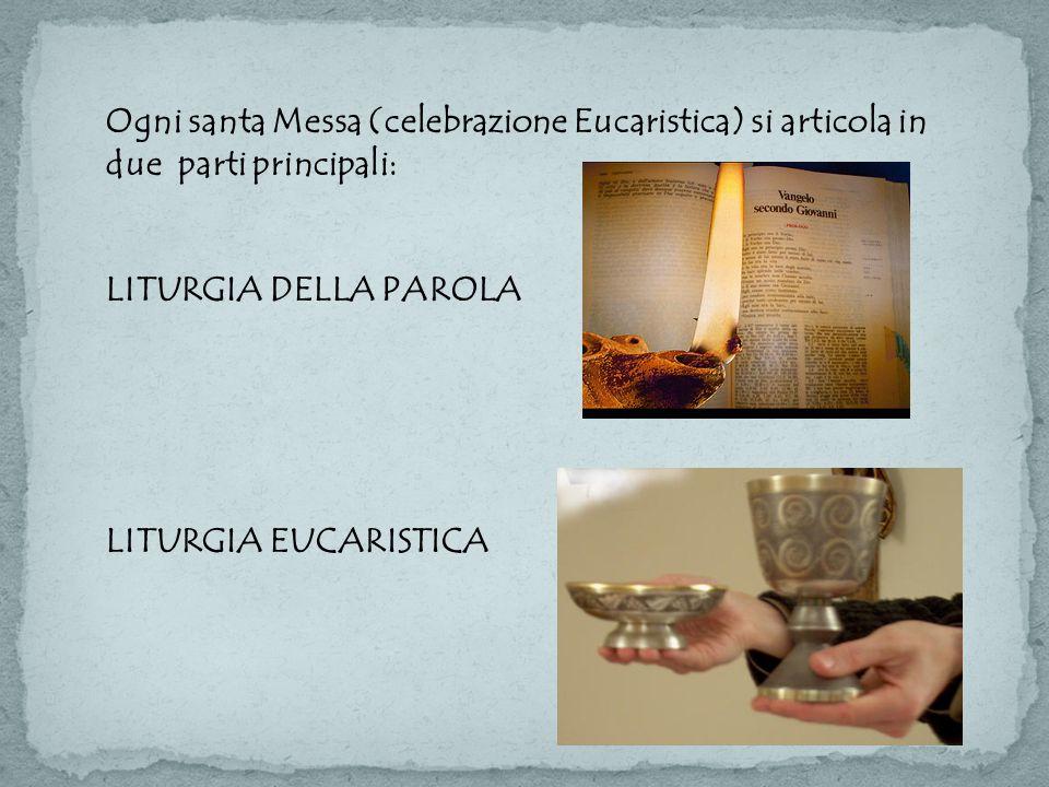 Ogni santa Messa (celebrazione Eucaristica) si articola in due parti principali: