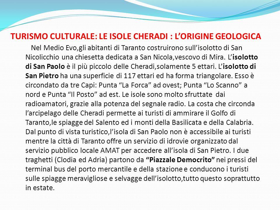 TURISMO CULTURALE: LE ISOLE CHERADI : L'ORIGINE GEOLOGICA