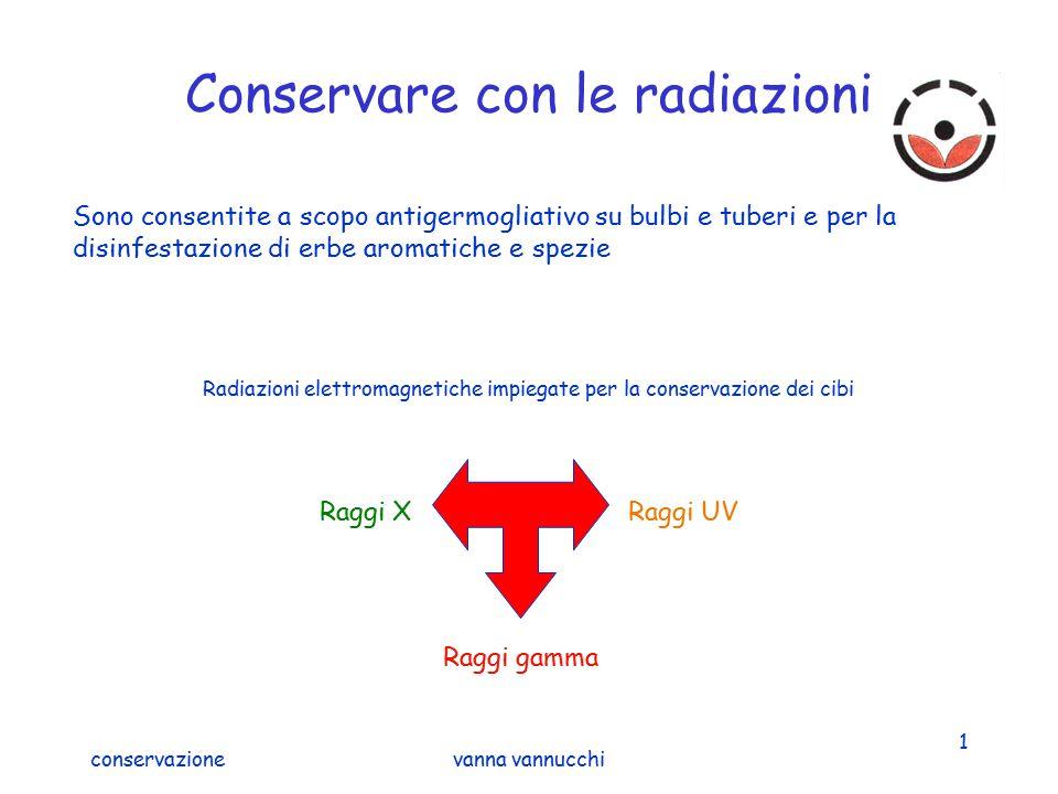 Conservare con le radiazioni