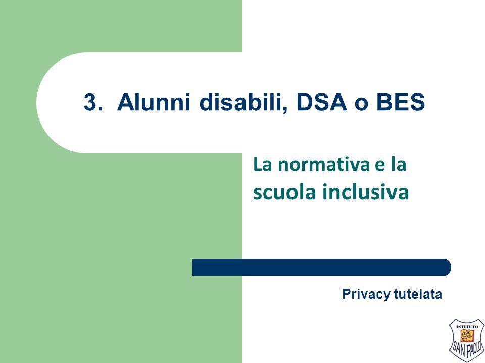 3. Alunni disabili, DSA o BES