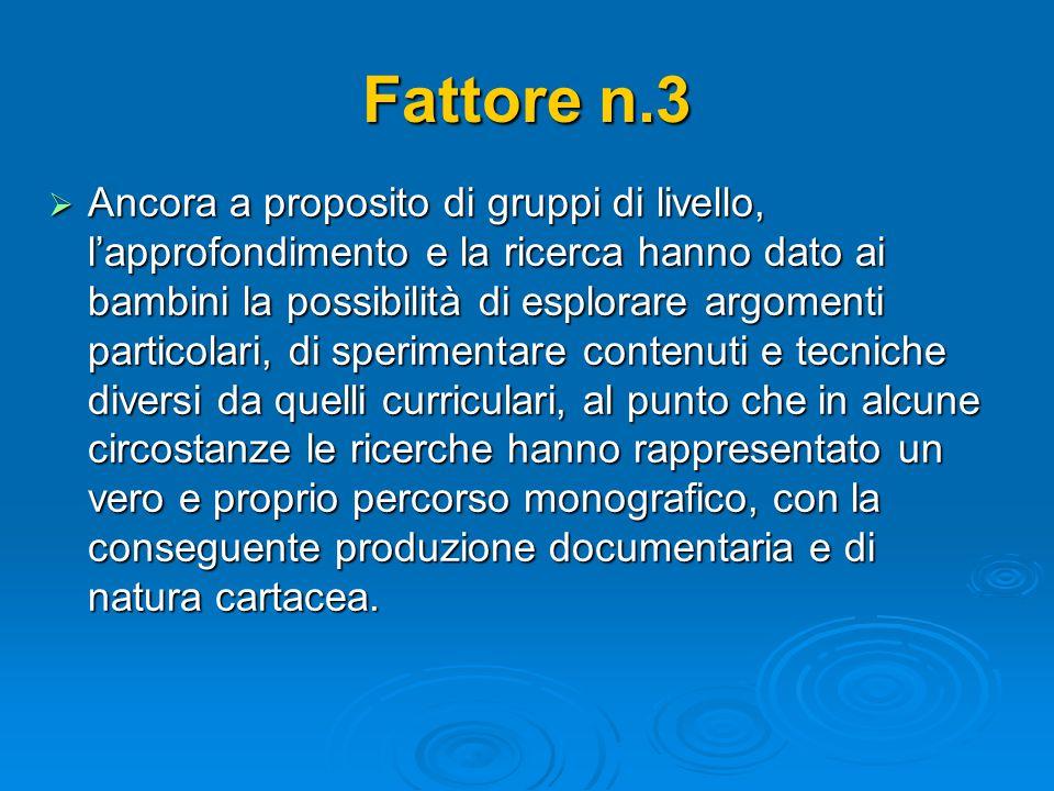 Fattore n.3