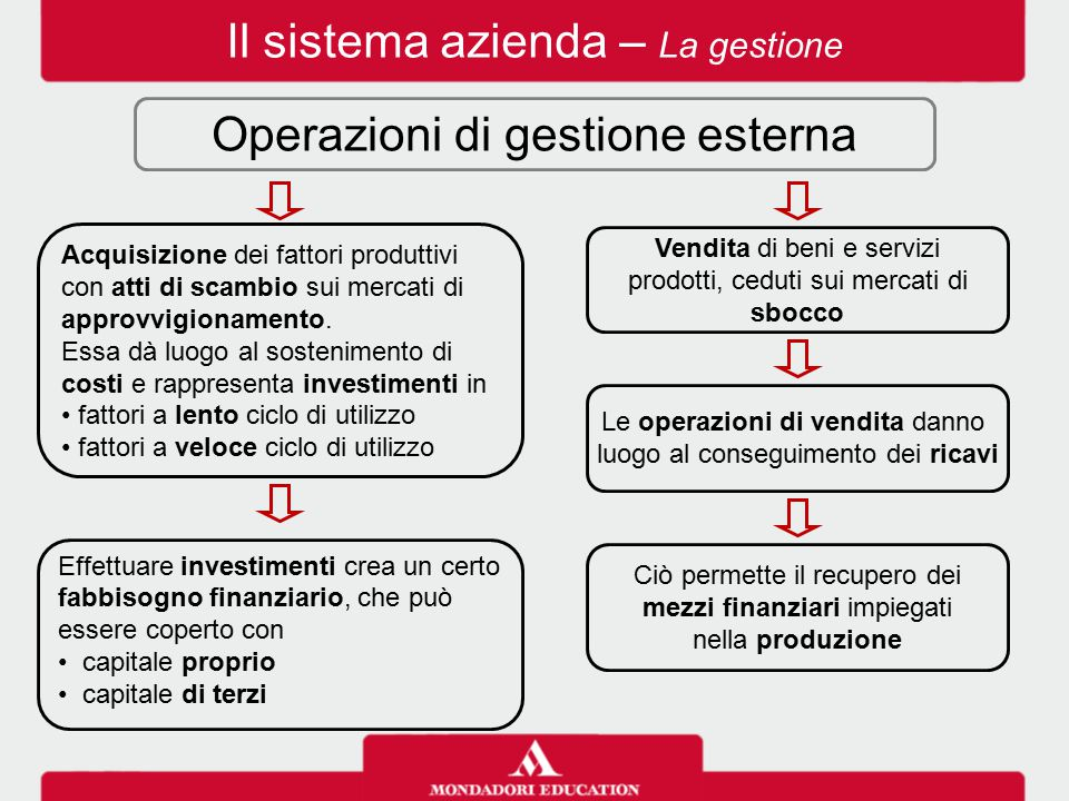 Il sistema azienda – La gestione