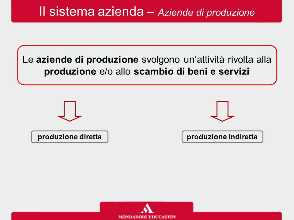 Il sistema azienda – Aziende di produzione
