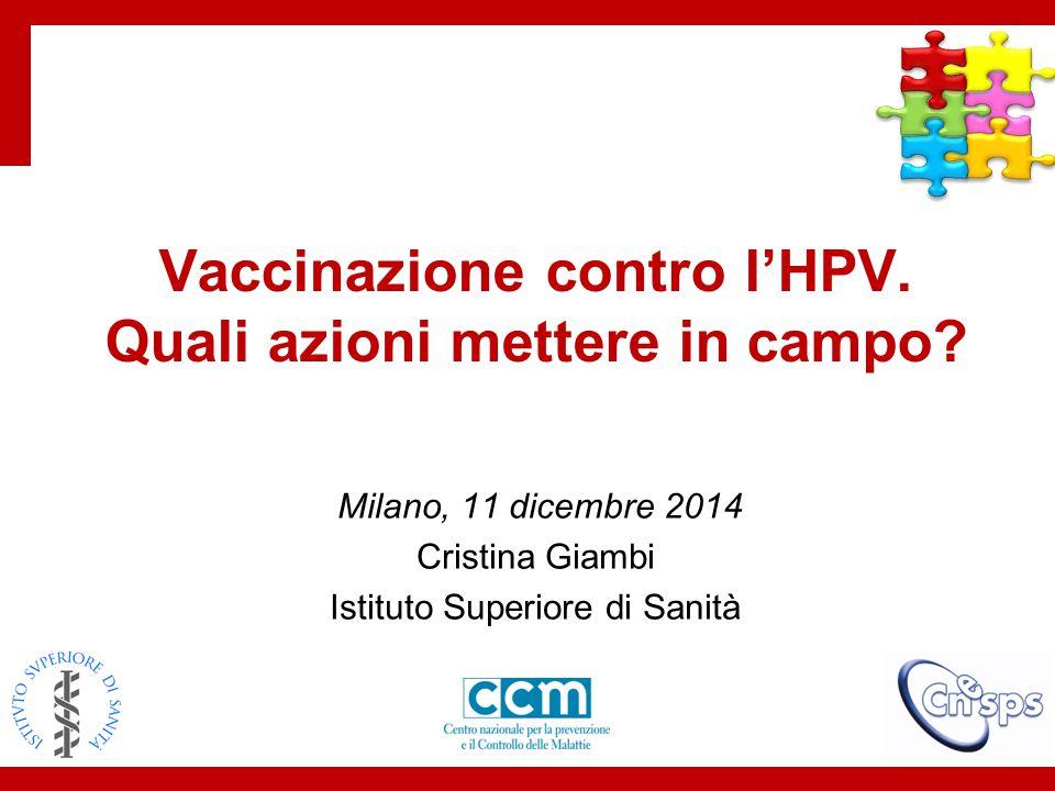 Vaccinazione contro l'HPV. Quali azioni mettere in campo