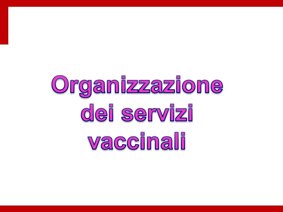 Organizzazione dei servizi vaccinali