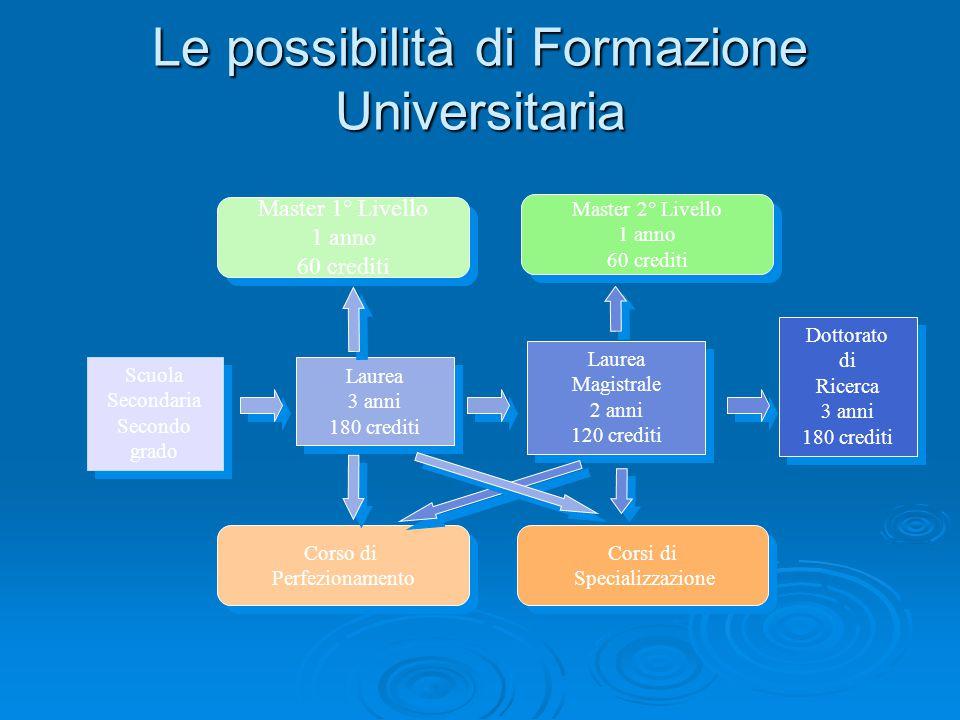 Le possibilità di Formazione Universitaria
