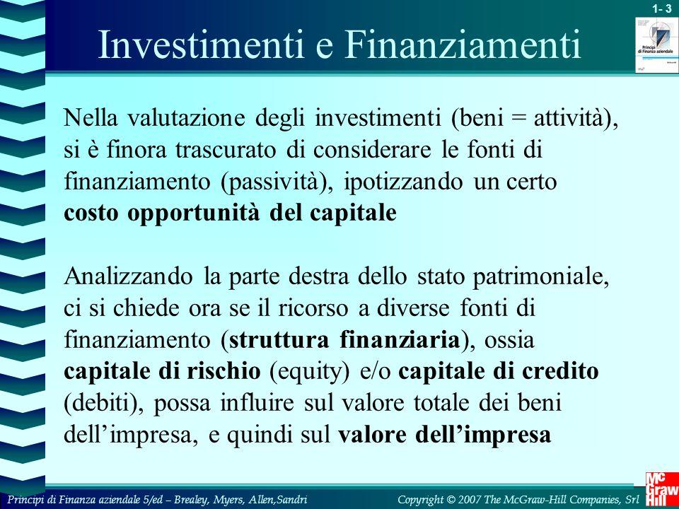 Investimenti e Finanziamenti