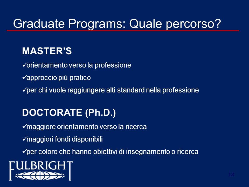Graduate Programs: Quale percorso