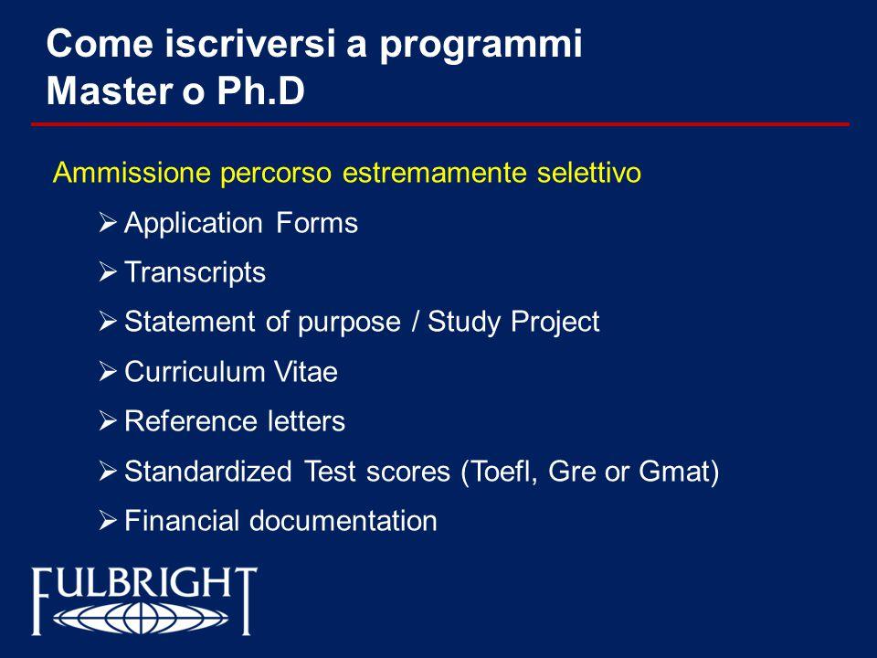 Come iscriversi a programmi Master o Ph.D