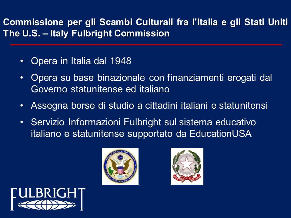 Assegna borse di studio a cittadini italiani e statunitensi