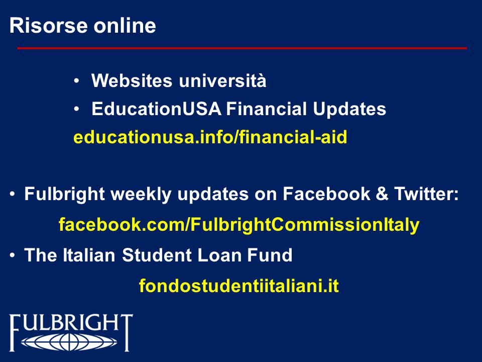 facebook.com/FulbrightCommissionItaly