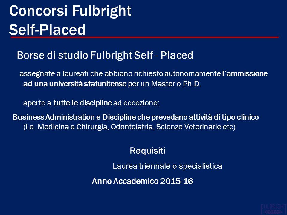 Concorsi Fulbright Self-Placed