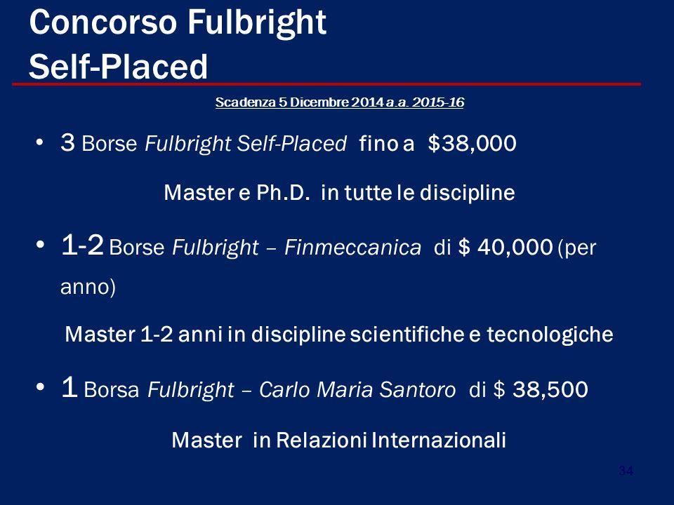 Concorso Fulbright Self-Placed