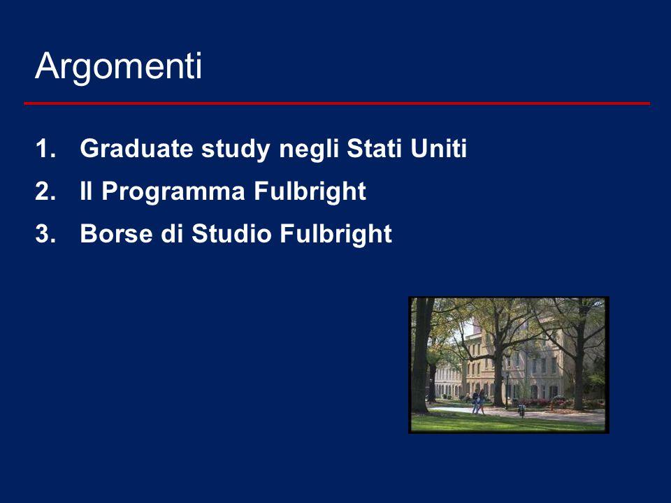 Argomenti Graduate study negli Stati Uniti Il Programma Fulbright
