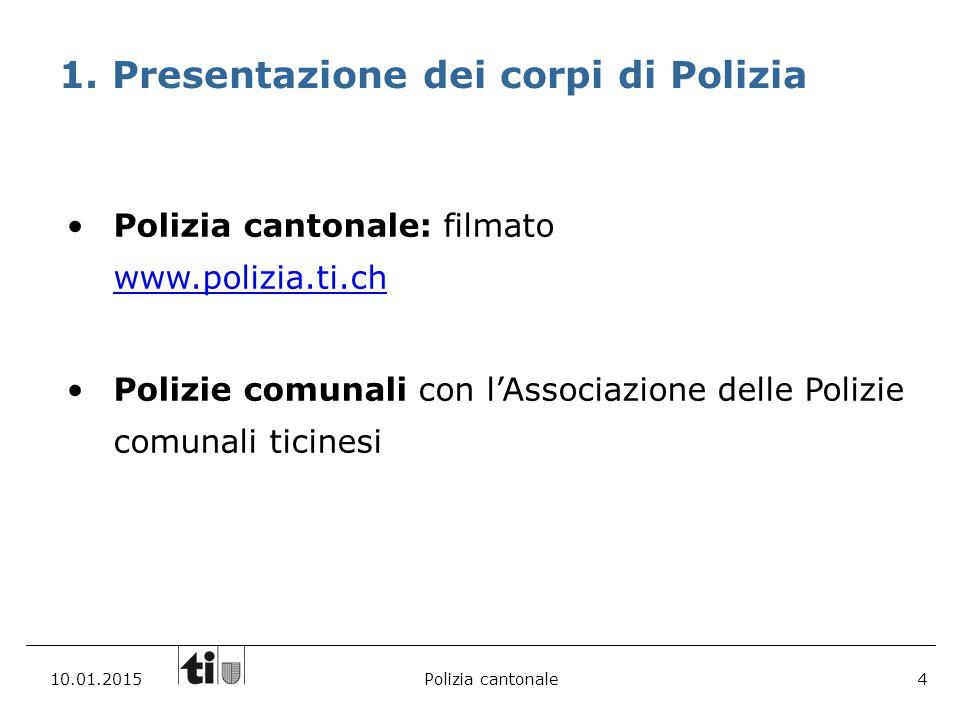 Presentazione dei corpi di Polizia