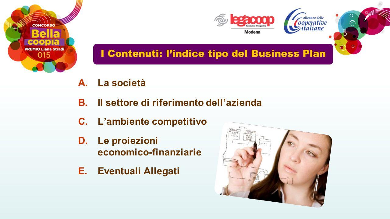 I Contenuti: l'indice tipo del Business Plan