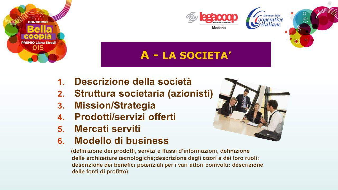 A - LA SOCIETA' Descrizione della società