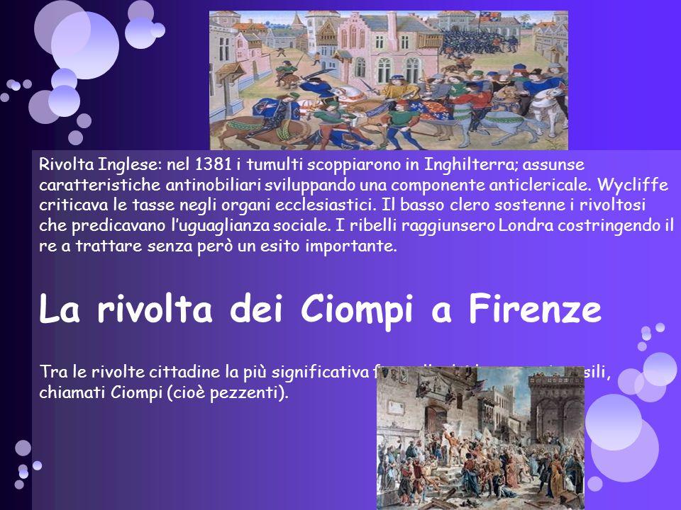 La rivolta dei Ciompi a Firenze