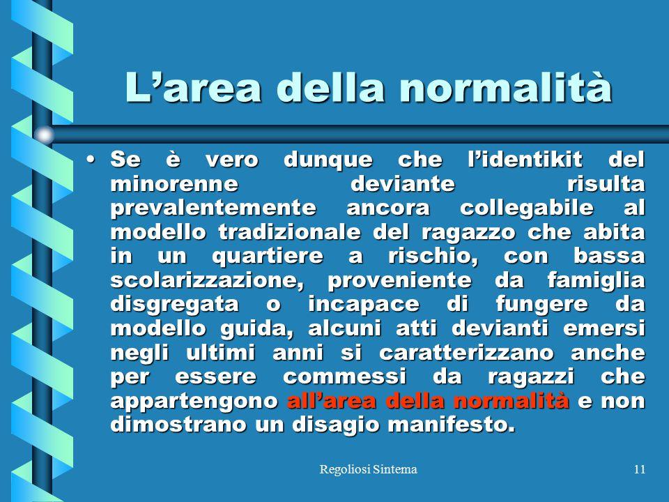 L'area della normalità