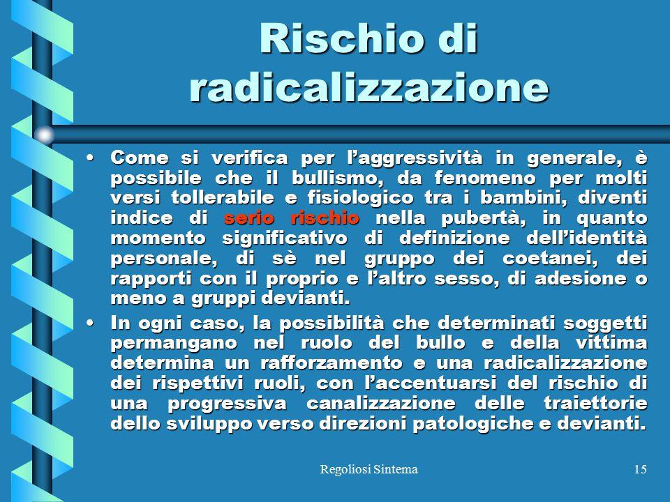 Rischio di radicalizzazione