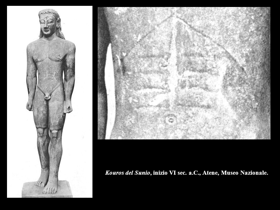 Kouros del Sunio, inizio VI sec. a.C., Atene, Museo Nazionale.
