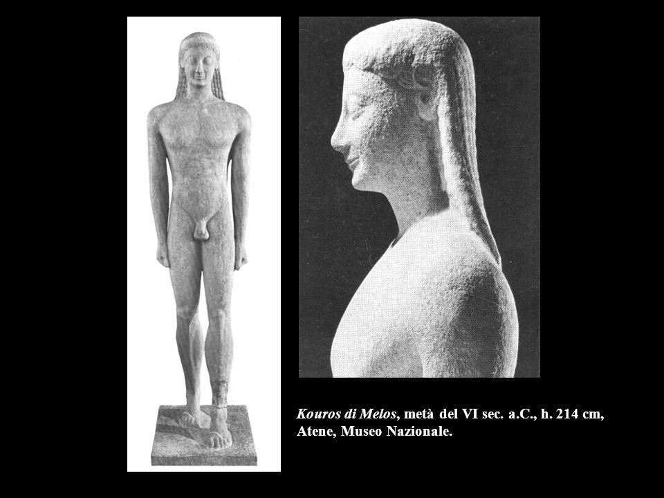 Kouros di Melos, metà del VI sec. a. C. , h
