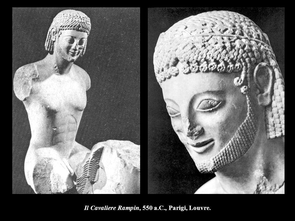 Il Cavaliere Rampin, 550 a.C., Parigi, Louvre.