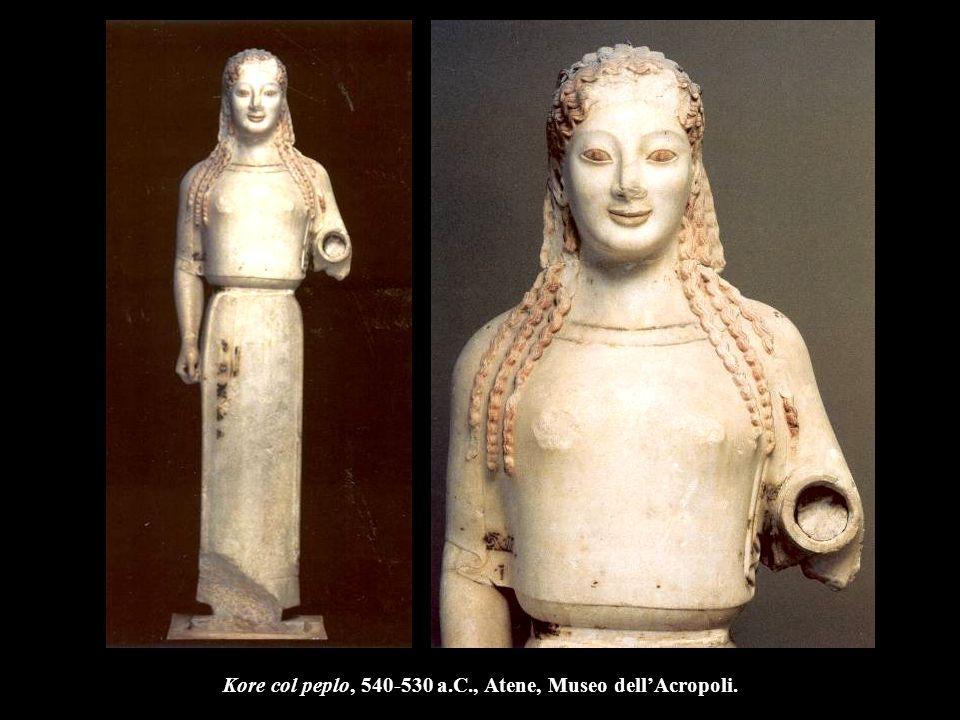 Kore col peplo, 540-530 a.C., Atene, Museo dell'Acropoli.