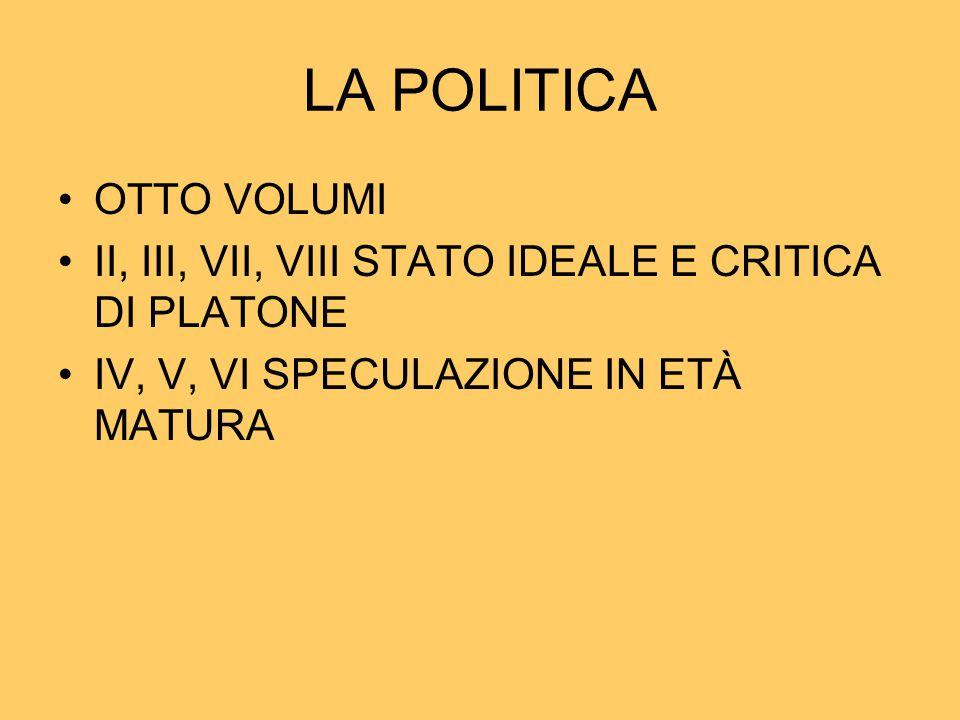 LA POLITICA OTTO VOLUMI