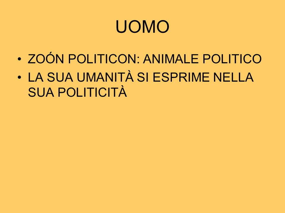 UOMO ZOÓN POLITICON: ANIMALE POLITICO