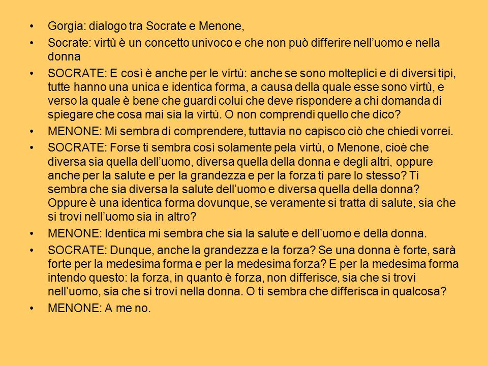 Gorgia: dialogo tra Socrate e Menone,