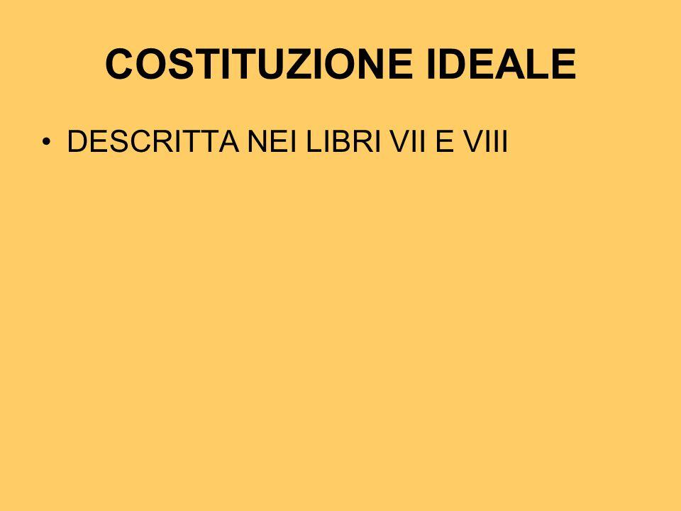 COSTITUZIONE IDEALE DESCRITTA NEI LIBRI VII E VIII