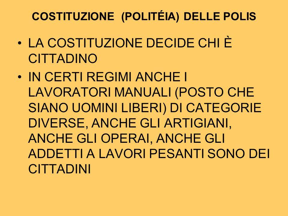 COSTITUZIONE (POLITÉIA) DELLE POLIS