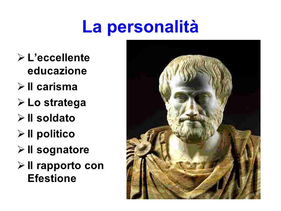La personalità L'eccellente educazione Il carisma Lo stratega