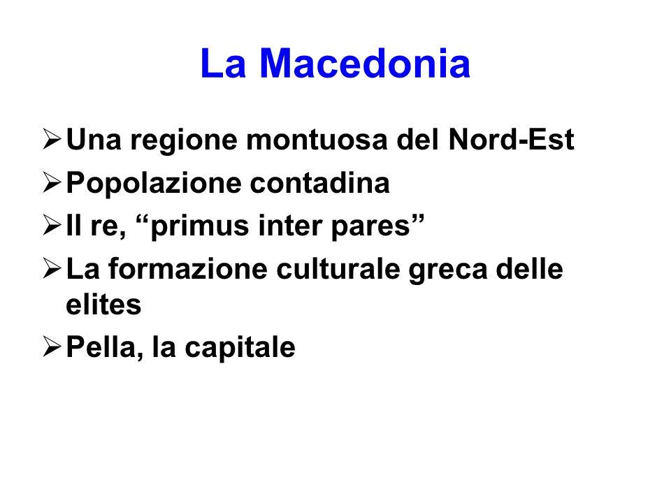 La Macedonia Una regione montuosa del Nord-Est Popolazione contadina