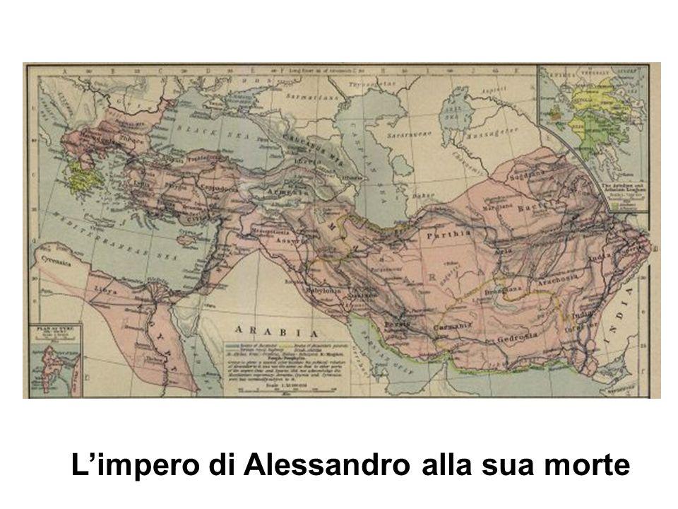 L'impero di Alessandro alla sua morte