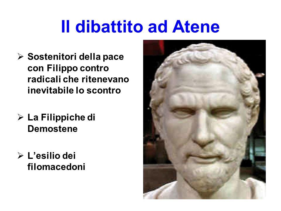 Il dibattito ad Atene Sostenitori della pace con Filippo contro radicali che ritenevano inevitabile lo scontro.