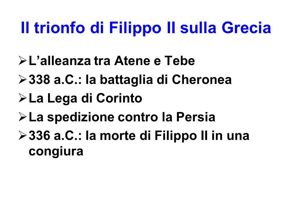 Il trionfo di Filippo II sulla Grecia