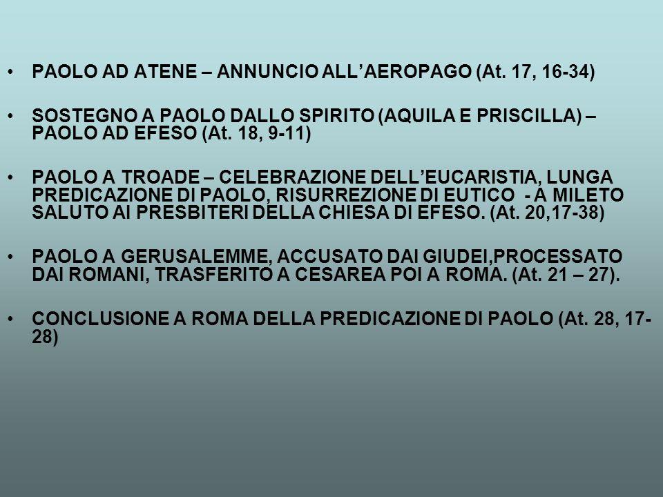 PAOLO AD ATENE – ANNUNCIO ALL'AEROPAGO (At. 17, 16-34)
