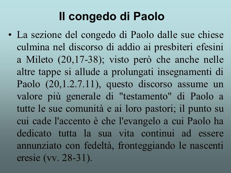 Il congedo di Paolo