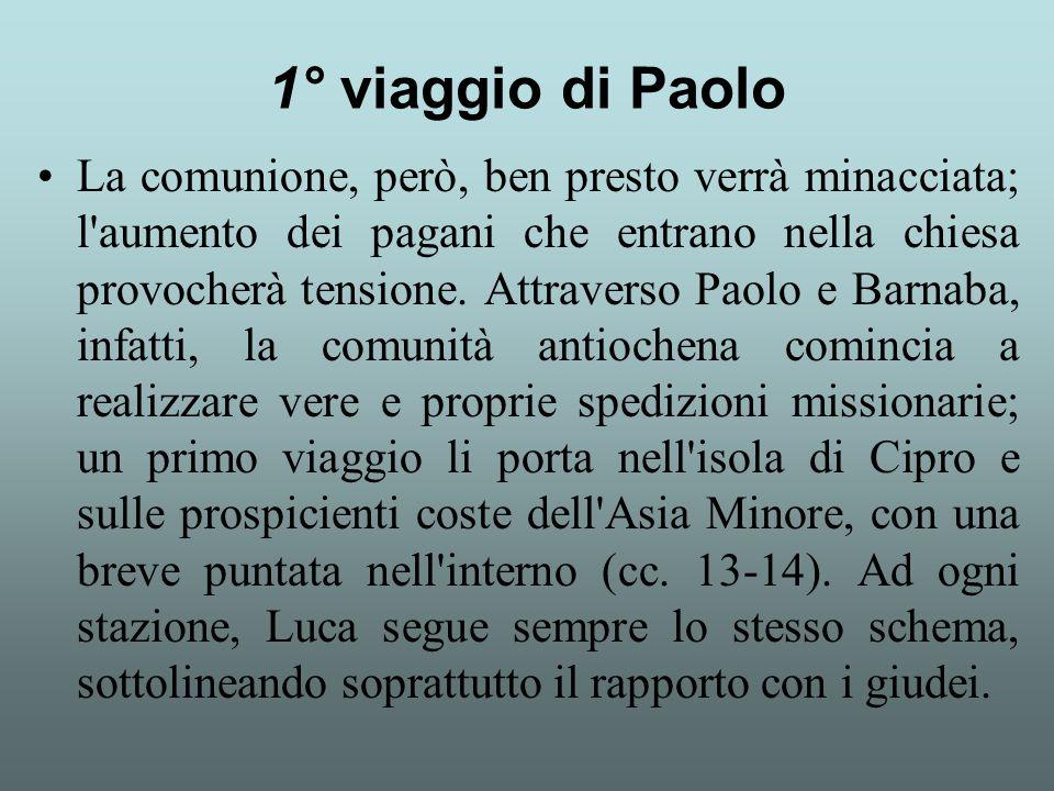 1° viaggio di Paolo