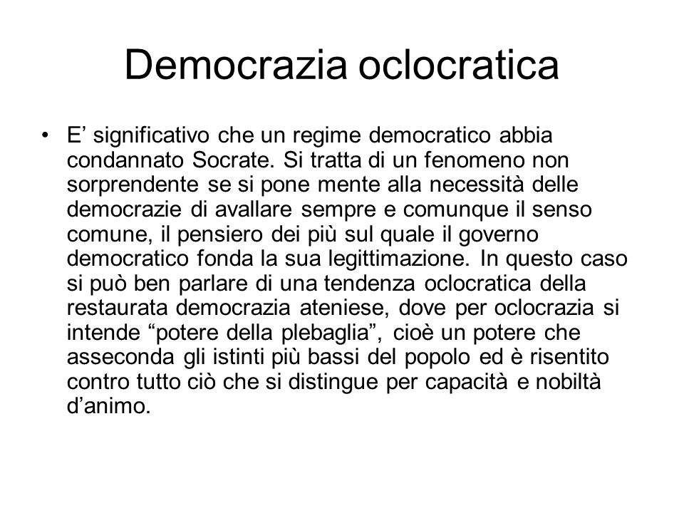 Democrazia oclocratica