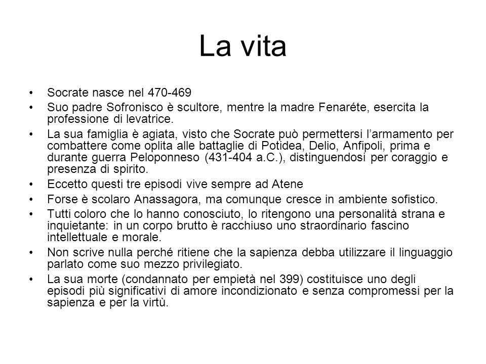 La vita Socrate nasce nel 470-469